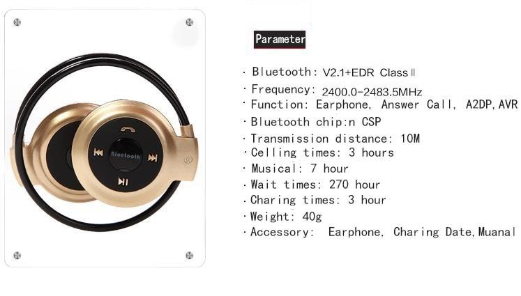 מיני 503 ספורט Hifi Neckband אוזניות Bluetooth מיקרופון דיבורית בס אוזניות אלחוטיות סטריאו אוזניות עם TF 4 צבע