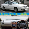 Dashmats car-styling accesorios del coche del tablero de instrumentos cubierta para Nissan Bluebird Sylphy 2000 2001 2002 2003 2004 2005 rhd