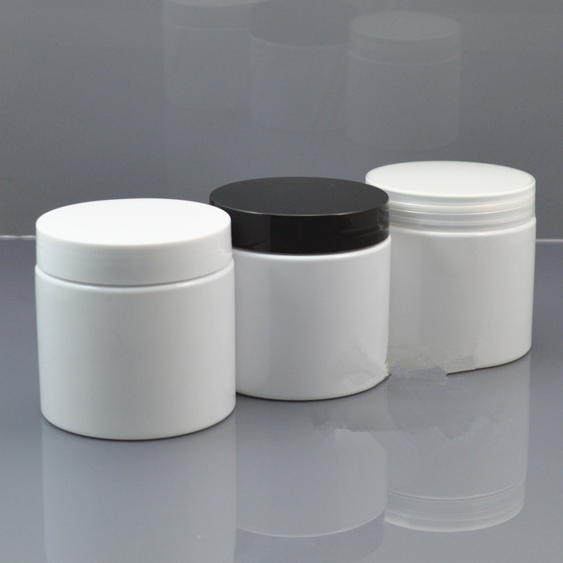 Drop Shipping 200g White Container Plastic Cream Jar, Empty Plastic Cream Reuse Container With Lids Printable Custom Logo