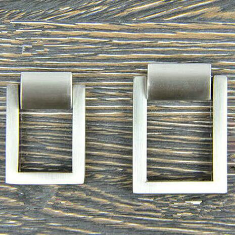 Modern simple Dresser Pull  Drawer Knob Pull Handle Shaky Drop Ring Shiny Silver Kitchen Cabinet Pull Knob furniture hardware