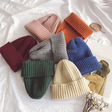 Children Candy Color Knitted Baby Boy Cap