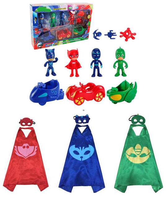 3packs PJmasks Inspired Costume Cape ; Mask + 4 Figures +3 Arms +3 Cars  sc 1 st  AliExpress.com & 3packs PJmasks Inspired Costume Cape ; Mask + 4 Figures +3 Arms +3 ...