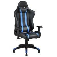 Giantex современные офисные кресла Racing высокой спинкой, лежащего игровой эргономичный стул компьютерный стол, кресло офисная мебель HW53993BL