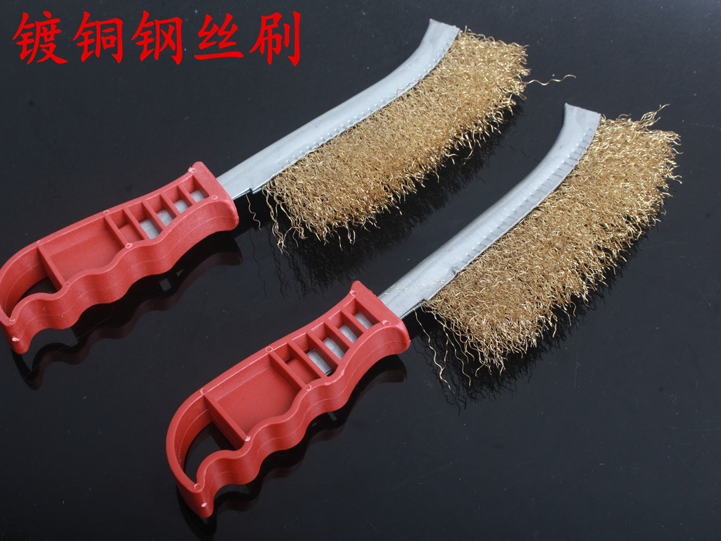 10x rotary mini tools steel wire wheel brushes cup rust cleaning - 1 Pcs Steel Wire Cutter Copper Brush Wire Brush Rust Knife Shaped Joint Cleaning Brush Iron