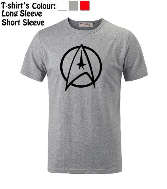 Simple Style Star Trek Crew Symbol Pattern Long Short Sleeves T