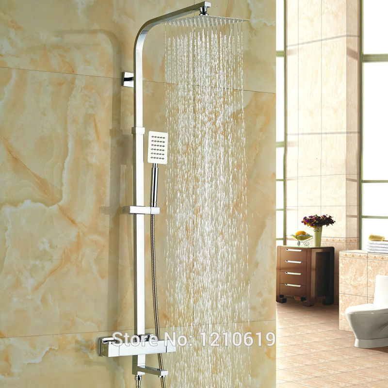 Newly Rainfall Thermostatic Shower Faucet w/ Hand Shower Chrome 8