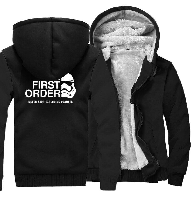 2017 New Hoodies Men Print The First Order Casual Sweatshirts Brand Clothing Streetwear Harajuku Fashion Hoody Thick Tracksuits