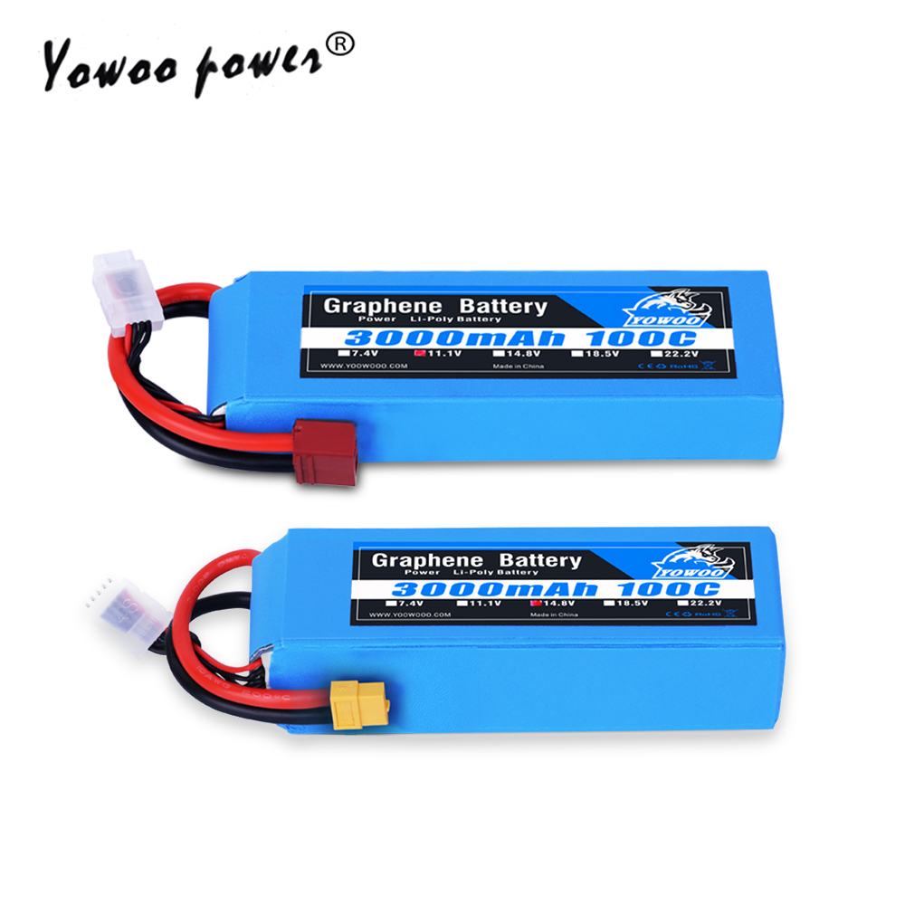 Graphene 2S 3S 4S 5S 6S <font><b>7.4V</b></font> 11.1V 14.8V 18.5V 22.2V <font><b>Battery</b></font> <font><b>3000mAh</b></font> 100C Burst 200C High Discharger Rate For Car Heli Quad Boat image
