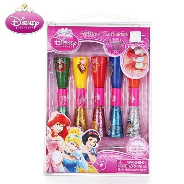 Disney Princess Kids Makeup Toys Children Birthday Gift Girls For 8 Years Water Based Nail