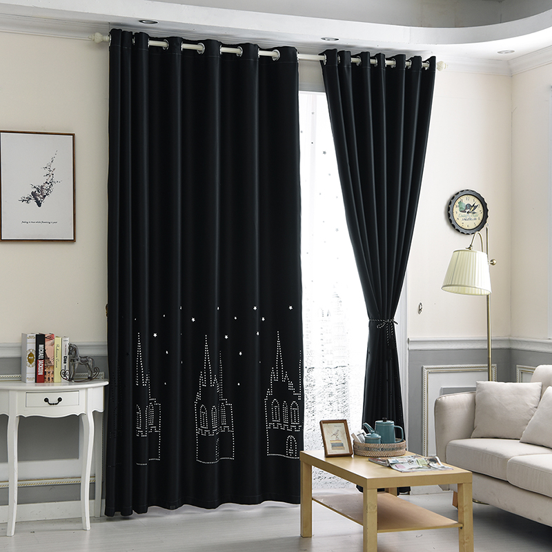 Modern 3D Blackout Curtains For Living Room Bedroom Boy Girl Window  Curtanis For Children Curtains Baby Room Panel White Blue In Curtains From  Home U0026 Garden ...