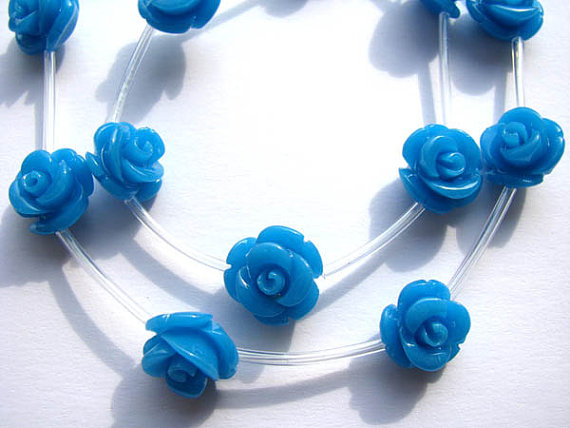 12mm 5strands 100pcs ,high quality turquoise florial flowers rose petal blue colorful cabochons jewelry beads high quality colorful flowers and girl pattern removeable wall stickers