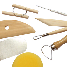 8 Piece Set Clay Ceramics Molding Tools Wood Knife Pottery Tool Practical 19pcs lot clay ceramics molding tools wood knife pottery tool practical pottery clay sculpture router bit set