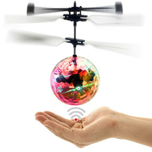 New RC Flying Ball Luminous Kid's Flight Balls Electronic Infrared Induction Aircraft Remote Control Toys LED Light Helicopter