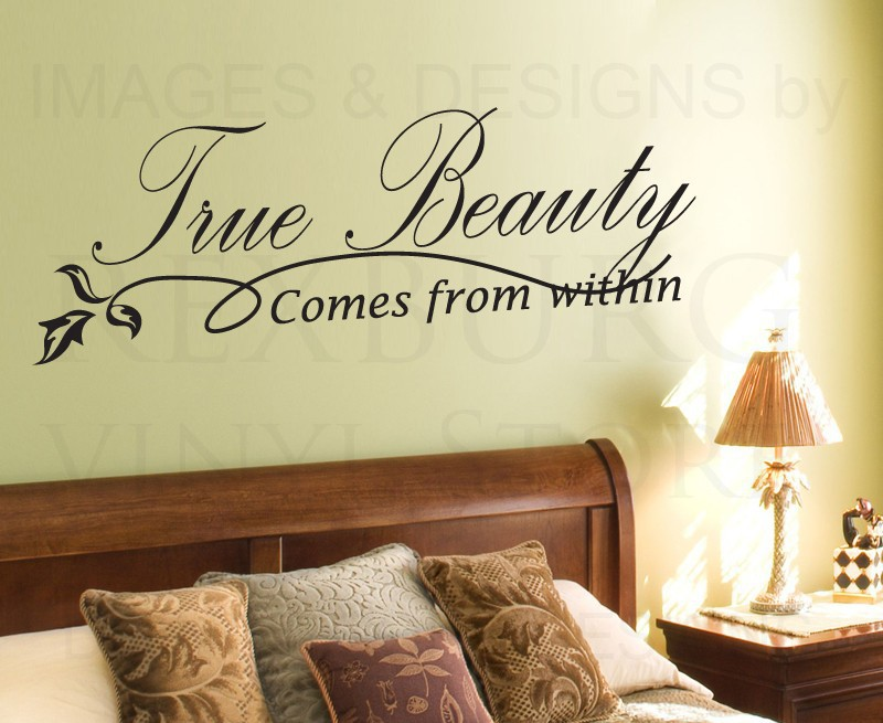 Wall Sticker Decal Quote Vinyl Art Lettering Adhesive True Beauty ...