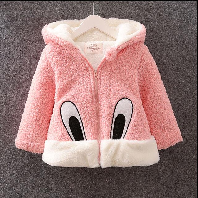 2016 outono inverno da menina do bebê roupas de veludo de lã de carneiro outerwear casacos para o infante do bebê roupas esportivas casuais casacos de marca jaqueta