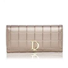 ShengBaoLi Echtem Leder Frauen Brieftaschen Luxus Marke 2017 Neue Design Hohe Qualität Mode Mädchen Handtasche Kartenhalter Lange Kupplung