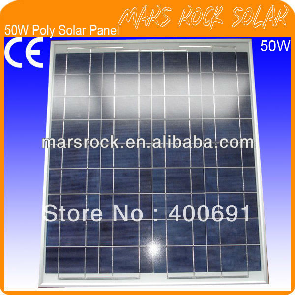 50W 18V Poly PV Solar Panel Module with High Efficiency Poly Cells,Nice Appearance,Reliable Parameter,IP65 Waterproof,Good Price