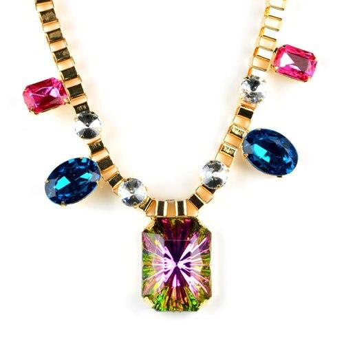 Haut de gamme étincelait cristal pierres Baroque foulard col collier en été  pour les femmes 02d30342e5c