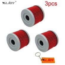 Xljoy 3 шт. масляный фильтр для SUZUKI GZ125 GV250 GT125 GT250 GA125 AN150 LT185 9.9HP 15HP HYOSUNG GT250R GV250 GF125