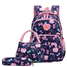 Kids School Bags for Girls Children 3pcs/set Backpack Waterproof Primary Schoolbags Child Shoulder Bag