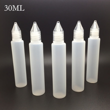 E-XY 15ml 30ml bottle pencil Unicorn Bottle 30ml PE bottle with Screw Cap E-cigarette E-Juice E-Liquid Empty Bottles 10Pcs/lot