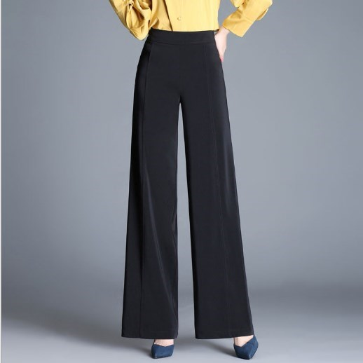 Pantalones Ancha Trabajo Traje Rojo Mujer Negro verde borgoña gris Cintura 6xl Verde Gris Negro rojo Moda Pierna Alta Ol De Pantalón qtBSnfx