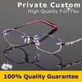 Роскошные оптические очки леди алмазные линзы высокого качества Без Рамки женщина Анти-усталости высокая прозрачная линза очки для чтения 727-1