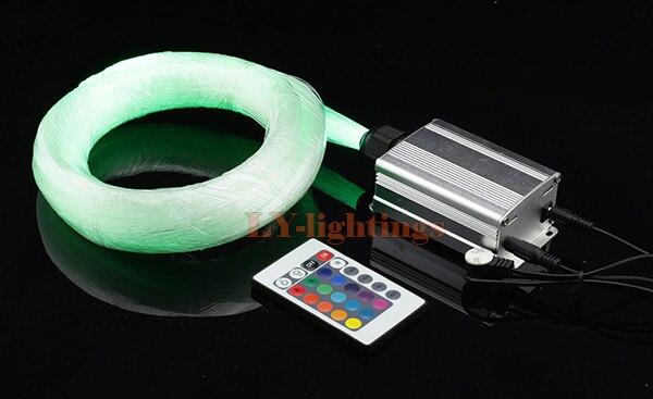 High quality optic fiber light kit led light source+200pcsx0.75mmx2.5m fibres RGB color change star IR remote ceiling lamp