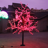 Новый светодиодный Cherry Blossom Новогодние ёлки Освещение Водонепроницаемый сад пейзаж украшение лампы для Свадебная вечеринка Рождество пост