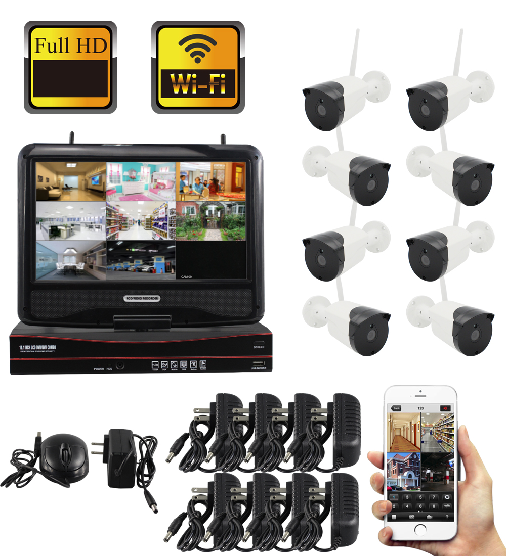 8CH Wireless wifi System 1.3MP NVR  Night Vision Outdoor Waterproof Network Camera CCTV Security System Surveillance Kit8CH Wireless wifi System 1.3MP NVR  Night Vision Outdoor Waterproof Network Camera CCTV Security System Surveillance Kit