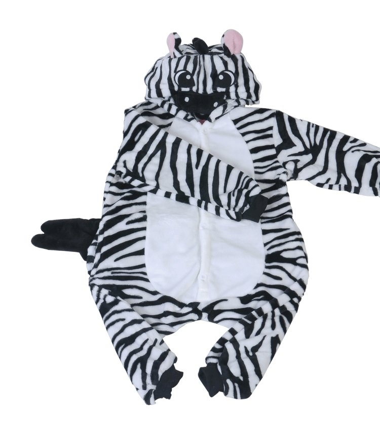Kids Animal Zebra Onesie One Piece Children Unisex Hooded ...