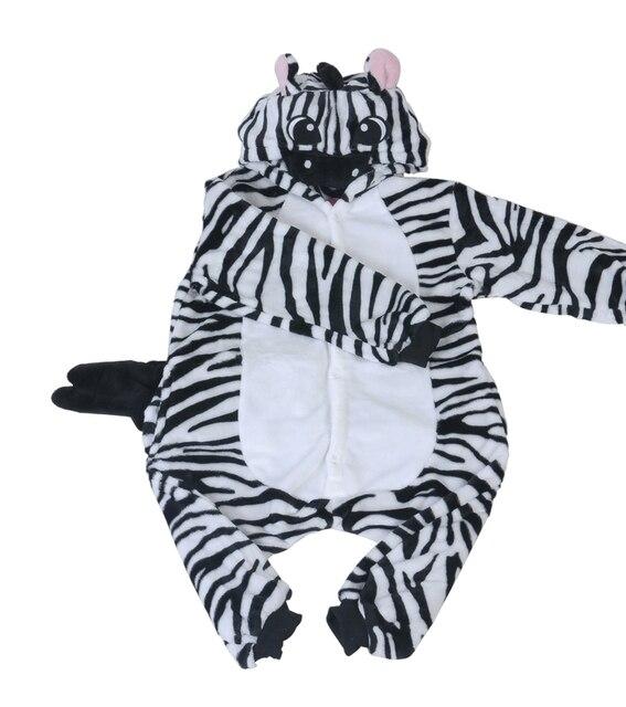 2e3d00152 Kids Animal Zebra Onesie One Piece Children Unisex Hooded Leopard ...