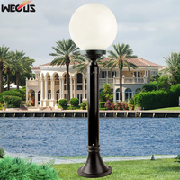 (WECUS) European style outdoor ball lawn lamp, courtyard lawn lamp, villa / community / road landscape street lamp