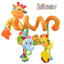 Jollybaby Infant Toys Baby Crib Revolves Around The Bed Stroller deer Playing Lathe Hanging Baby Rattles Mobiles with Teether