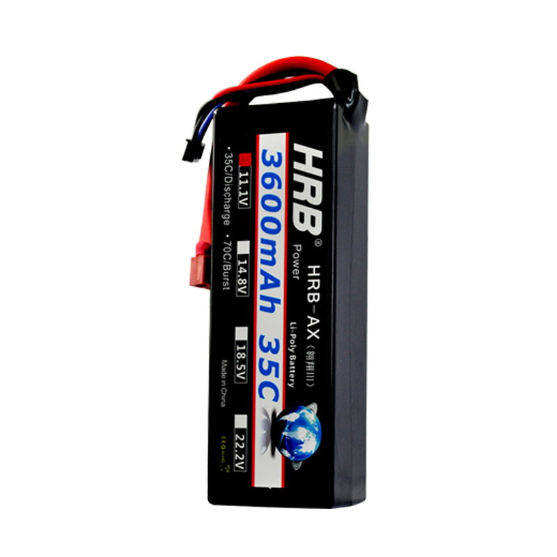 HRB RC Car Lipo <font><b>3S</b></font> <font><b>Battery</b></font> Hard Case <font><b>11</b></font>.<font><b>1V</b></font> 3600mAh 35C MAX 70C For 1/10 RC Car Traxxas Truck Helicopter Airplane Boat UAV Drone