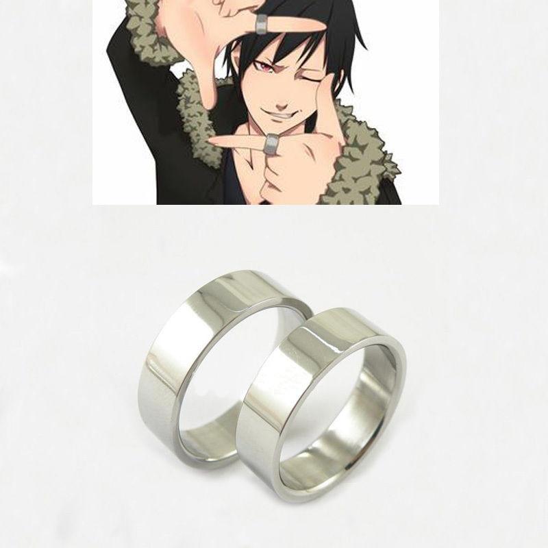 Set Of 2 Pieces Rings Anime DuRaRaRa Orihara Izaya Titanium Steel Ring Cosplay