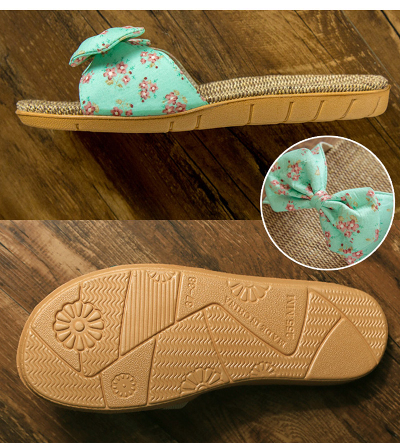 d7417e016a77 2019 Women Slippers Spring Summer Home Shoes Women Casual Bow-knot ...