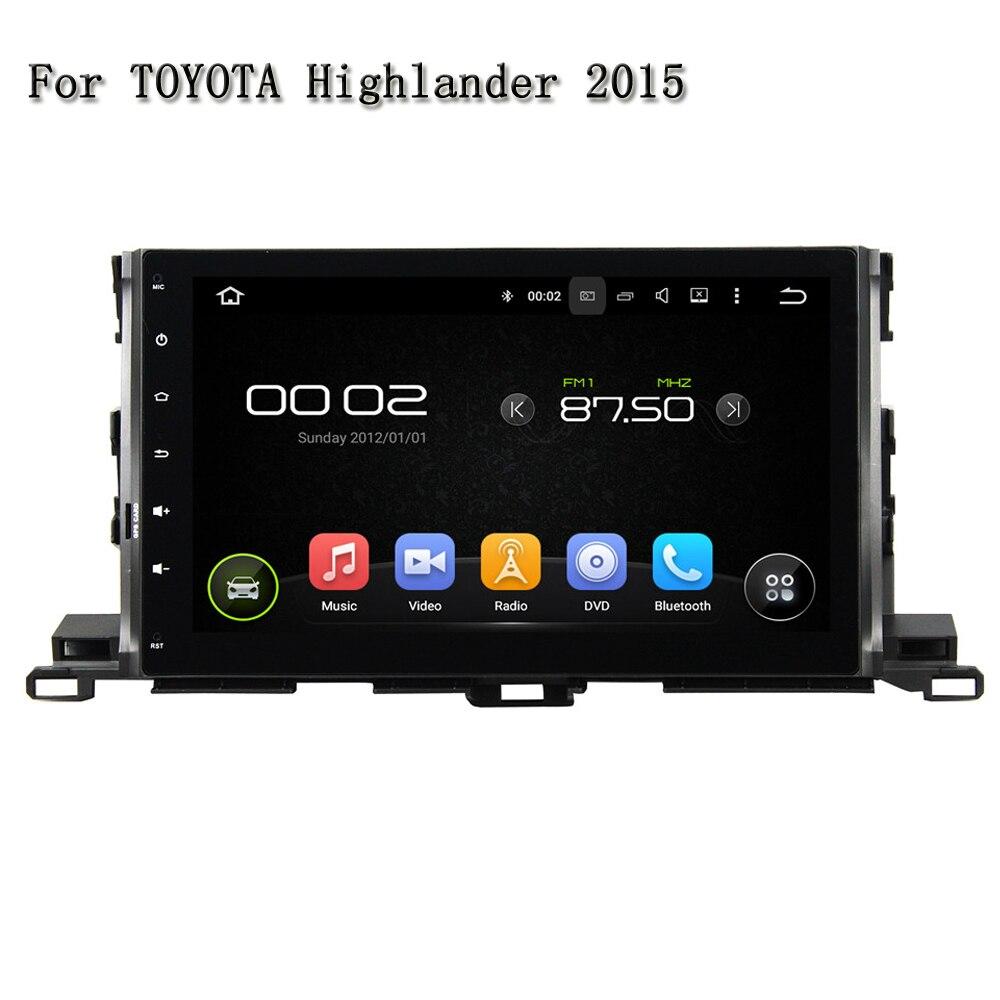 10.1 Экран Android 5.1 dvd-плеер автомобиля для Toyota Highlander 2015 с Видео Стерео Радио плеер Wi-Fi 4 г ТВ GPS OBD