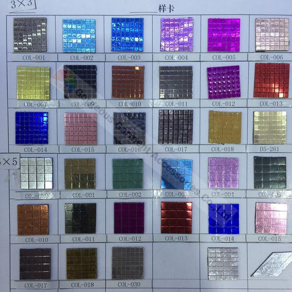 3x3mm 셀프 스틱 금속 모자이크 미러 시트 필름 다양한 색상 diy 말 browbands 가구 전화 케이스 액세서리 만들기-에서벽걸이 스티커부터 홈 & 가든 의  그룹 1