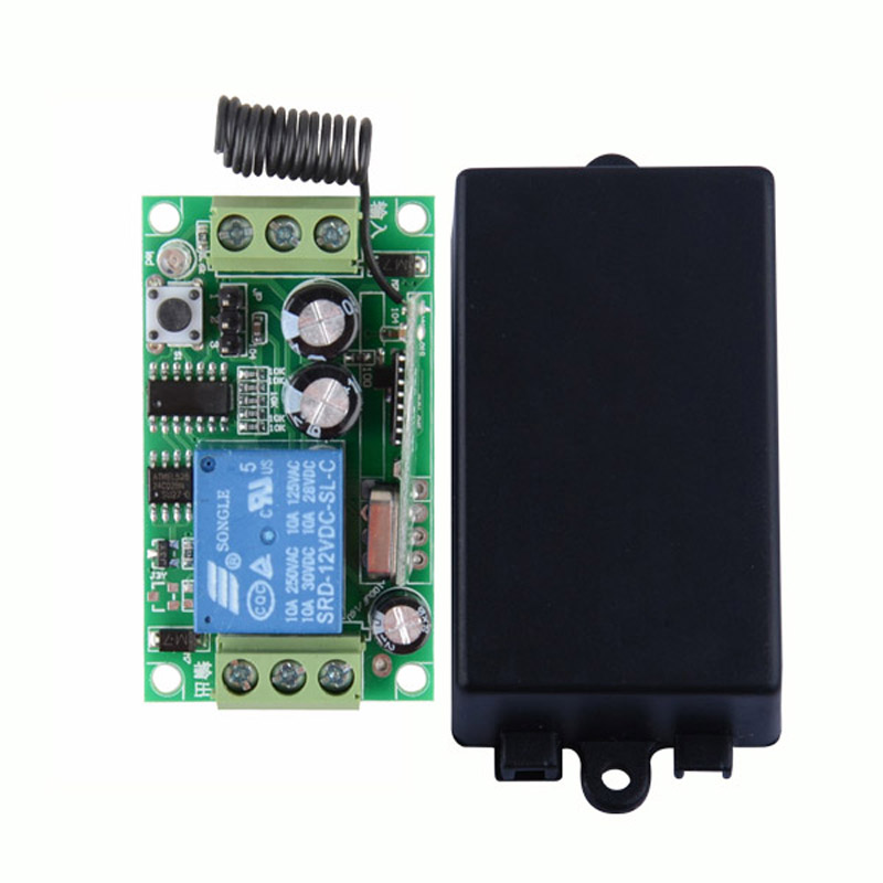 DC 12V 1 CH Relay Receiver Wireless Remote Control Switch 315/433.92 RF Radio Frequency RX Learning Momentary Toggle Latched 315 433mhz 12v 2ch remote control light on off switch 3transmitter 1receiver momentary toggle latched with relay indicator