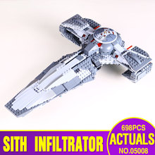 STAR WARS LEPIN 05008 689pcs The Force Awaken Sith Infiltrator Building Block Darth Margus Compatible With Gift Toys