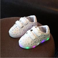 Children Shoes With Light 2016 Autumn Baby Girls Shoes Chaussure Led Light Kids Fashion Breathable Boys