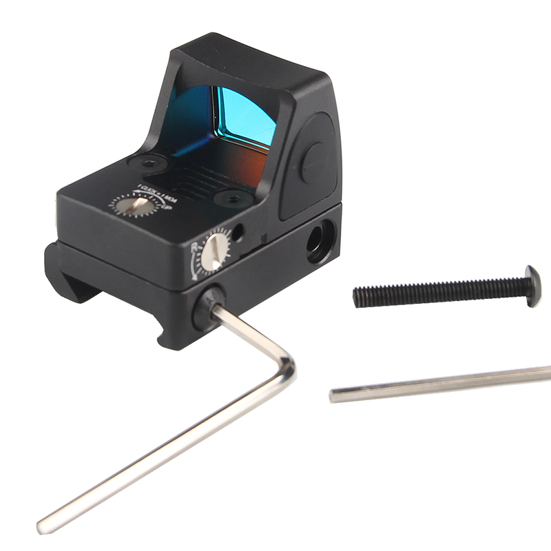 Image 4 - US Stock Mini RMR Red Dot Sight Collimator Glock Reflex Sight Scope fit 20mm Weaver Rail For Airsoft Hunting Rifle RL5 0004 2-in Riflescopes from Sports & Entertainment