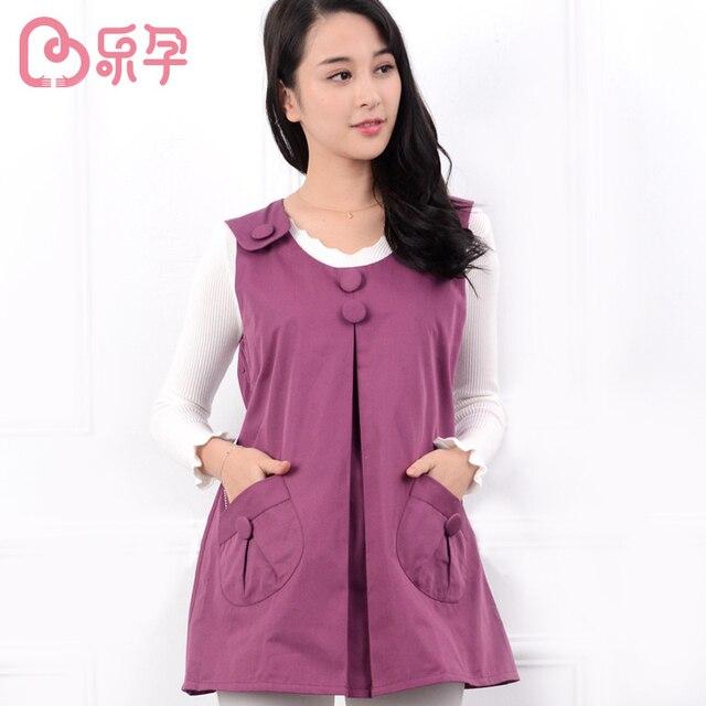 Leyun Pregnancy Tank Nursing vest Proof Radiation maternity Clothes nursing dress Cotton Maternity waistcoat pajama