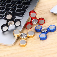 Starss Hand Spinner Aluminum Tri Bar Hand Fidget Spinner Finger Toy Electroplating Spinner Replaceable Bearing Stress