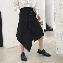 Hombre Japón estilo falda pantalones Punk Gothic etapa desgaste pantalones  hombres moda Casual Irregular diseño Harem Pant eb351f099cf