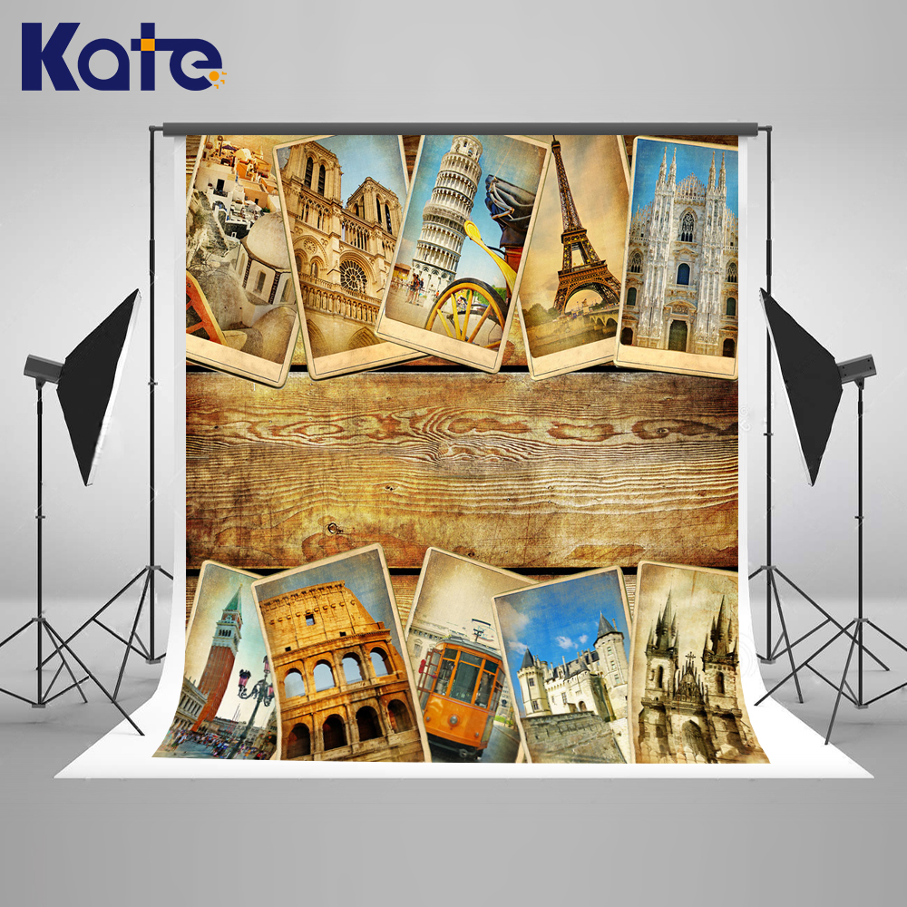 Kate Old Photos Camera Fotografica Backdrop Wood Photography With Eiffel Tower Castle Photographic Background Washable Backdrop realflame электрический камин old castle