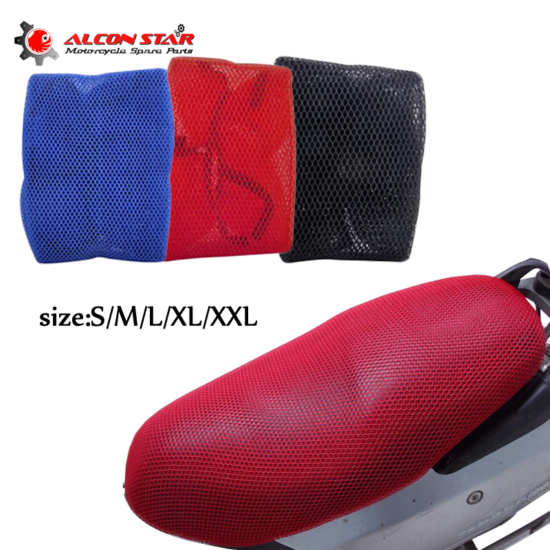 Alconstar- 3D Sandwich Fabric Sunshade Sunproof Sunscreen Motorcycle Cooling Seat Cover Heat Insulation Protection
