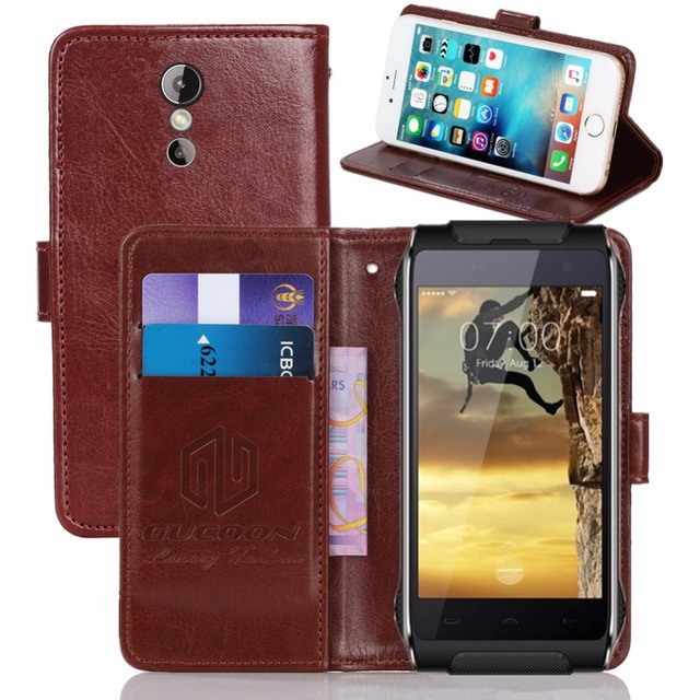 """GUCOON Vintage Wallet Case for Homtom HT20 Pro 4.7"""" PU Leather Retro Flip Cover Magnetic Fashion Cases Kickstand Strap"""
