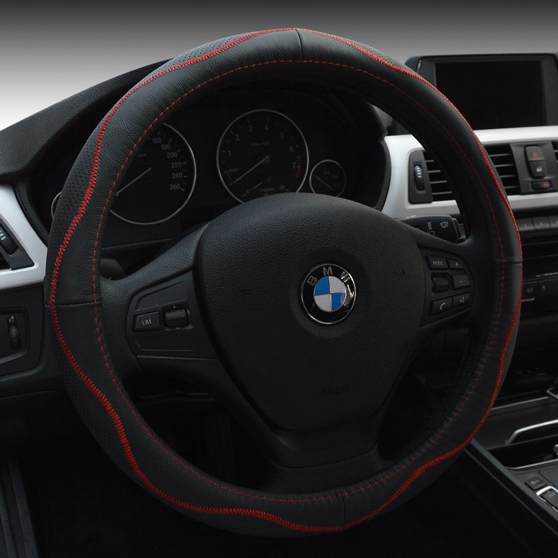 Car Styling Genuine Leather Steering Wheel Cover For Bmw X1 X2 X3 X4